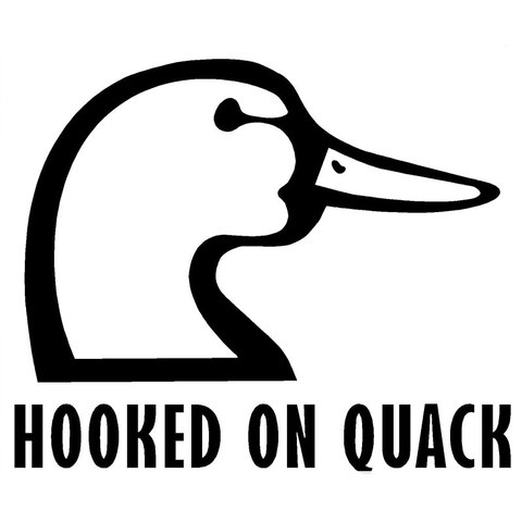 HotMeiNi 12.7CM*10.4CM Hooked On Quack Decal Hunting Duck Truck Sticker Car Stickers Decor Auto Accessories Black Sliver Pakistan