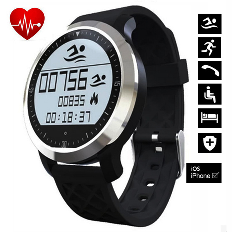 imágenes para F69 bluetooth smart watch moniteur poignet dispositif pour smartwatch android portátil de frecuencia cardiaque smartwatch de fitness