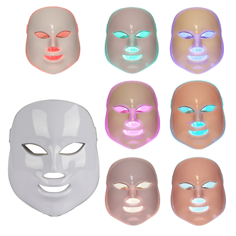 7 Colors Electric LED Mask Massage Blackhead Removal Cleanser Face Skin Rejuvenation Anti Wrinkle Therapy Beauty Free Shipping 3 daiso natural nose pack mask cleanser blackhead remover