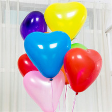 10inch 10pcs Heart Latex Balloons Birthday Wedding Supply Latex Balloons Air Balls Kids Party Inflatable Toys стоимость