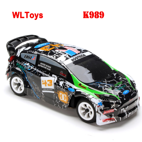 WLtoys K989 1/28 High-speed 4CH 4WD 2.4GHz Brushed RC Rally Car RTR