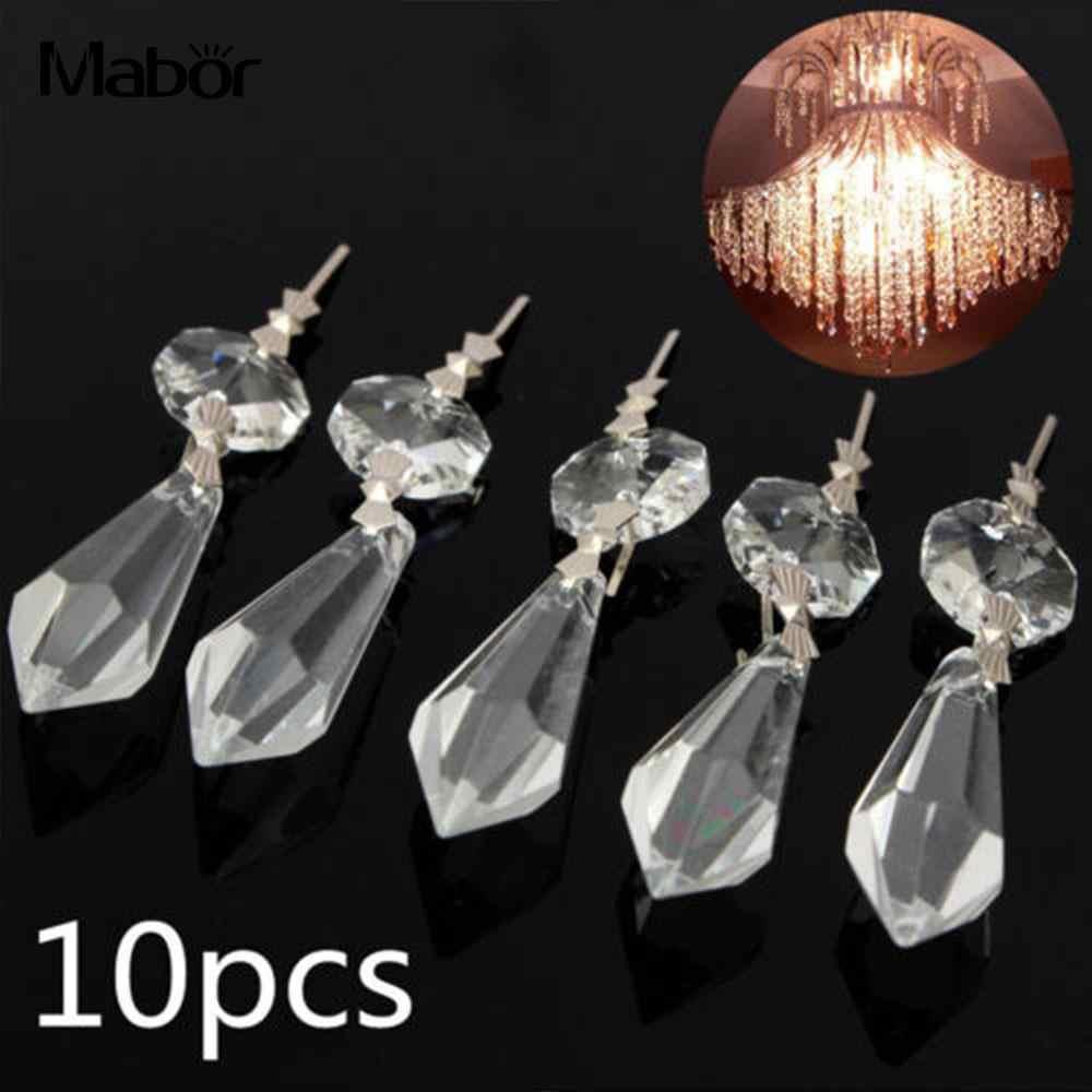 10 шт./упак. люстра восьмиугольная бусина хрустальные подвески для ламп детали для декора ustres e pendentes para sala обеденный стол Современное стекло