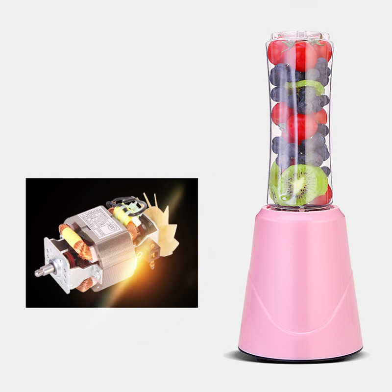 Portátil Elétrica Juicer Blender Milkshake de Comida para Bebé Moedor de Carne Misturador Multifuncional Suco de Fruta Máquina do Fabricante Azul Plugue DA UE
