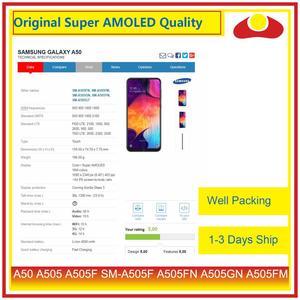 Image 3 - Pantalla LCD Original para Samsung Galaxy A50, A505, A505F, SM A505F, con Panel digitalizador de Pantalla táctil completa