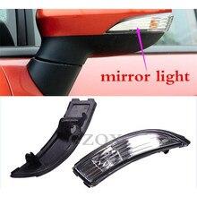 CAPQX 2 pcs Para Fiesta 2009-2014 Flashes de luz espelho Retrovisor Rear view espelho lateral vire sinal indicador da lâmpada 8A61-17683