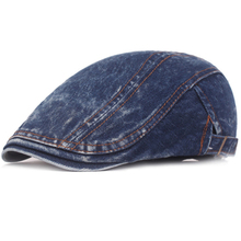 HT2279 Berets Men Women Spring Summer Flat Cap Vintage Ivy Newsboy Cap Classic Artist Painter Beret Hat Male Denim Beret Cap Men цена и фото