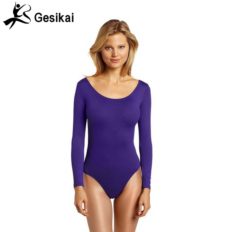 24 Hrs Shipped Out Womens Long Sleeves Unitards Ballet Dancewear Yoga Leotard Womens Gymnastic Suit Ballet Leotards