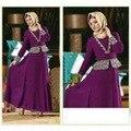 Дубай Турецкая Женской Одежды Женщин Платья Мусульманские Исламский Абая Платья Арабских Женщин Дамы Кафтан-Кафтан Малайзия Abayas
