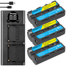 3200mah NP-F550 NP-F330 NP F550 NP F330 Camera Battery + LCD Dual USB Charger for Sony NP-F550 NP-750 YONGNUO Camera Lights cheap probty NP-F550 NP-F570 Standard Battery
