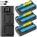 3200 мА/ч, NP-F550 NP-F330 NP F550 NP F330 Камера Батарея + ЖК-дисплей Dual USB Зарядное устройство для Sony NP-F550 NP-750 Светодиодная лампа для видеосъемки YONGNUO Камера ...