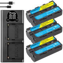 3200mah  NP F550 NP F330 NP F550 NP F330 Camera Battery + LCD Dual USB Charger for Sony NP F550 NP 750 YONGNUO Camera Lights