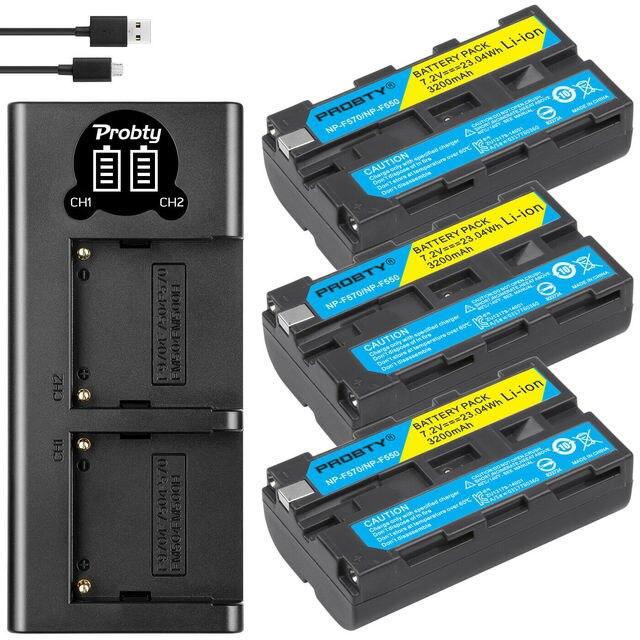 Bateria de câmera + carregador sony, 3200mah, NP F550 NP F330, np, f550, np f330, lcd, dual usb, para sony NP F550 NP 750 yongnuo luzes da câmera