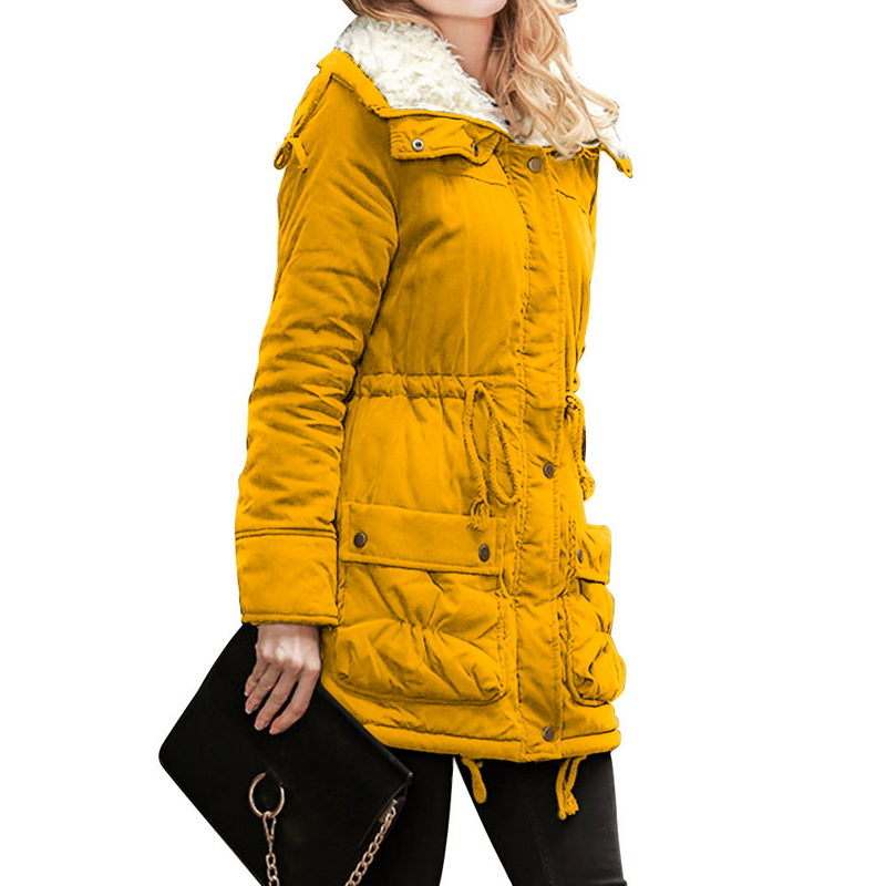 Litthing Long Sleeve Zipper Windbreaker Jacket Coat   Parkas   Female Women Winter Coat Thickening Cotton Jacket Womens Outwear 2019