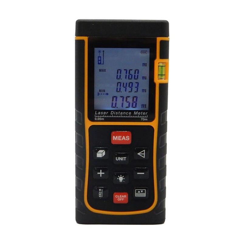 ФОТО SNDWAY Laser Distance Meter Rangefinder 70m 229ft Digital trena Laser Range Finder Area-volume-Angle measure ranging device