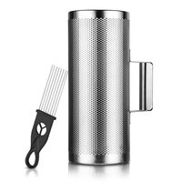 Vangoa Stainless Steel Metal Guiro Percussion Instrument Musical Training Tool with Scraper Instrument, 12x 5/12''x4''