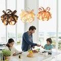 SGROW Woodskin абажур подвесной светильник Европейский Простой креативный подвесной светильник для гостиной спальни столовой бара Lampara