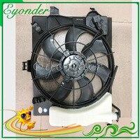 AC radiador ventilador de refrigeración de condensador de la Asamblea para Hyundai Elantra acento Kia Rio 253801R050 253801W150 253801W611 253801W151