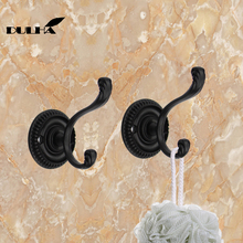 2PCS Decorative Wall Hooks For Hanging Cloth Hat Towel Hook Hangers Metal Coat Bag Rack Hanger For Bathroom Kithen Free Shipping