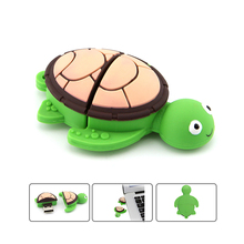 цена на Mini usb flash drive Cartoon turtle pen drive 4GB 8GB 16GB 32GB 64GB memory stick u disk mini computer gift pendrive usb stick
