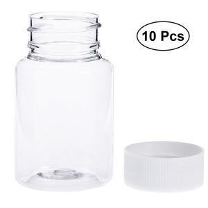 Image 2 - 12Pcs 80ml לחיות מחמד הגלולה מיכל בקבוקי כימי רפואה לוח אחסון מחזיק הגלולה Dispenser עם לבן כובע