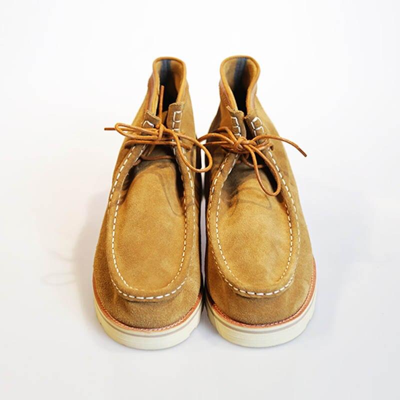 Kuh High Schuhe Lace Up Vintage Martin Photo Handgemachte Top Unisex Wildleder As Amerikanischen Beiläufige Stiefeletten Männer Motorrad Wohnungen Stiefel Arbeit q58cvx