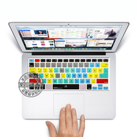 For Adobe Premiere Pro CC Shortcut Keys Silicone Soft Keyboard Cover Skin Sticker For Apple Macbook