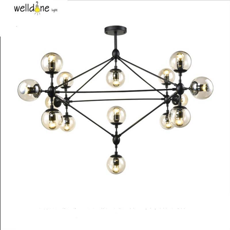Vintage Magic Beans loft Modo Chandelier magic 10 head led modo chandelier dna modo light glass ball bar free shipping Bedroom