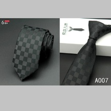 Gravata Slim Ties Solid Coral Black Skinny Mens Tie Neck 6cm Jacquard Silk for Men Wedding Suit Cravate