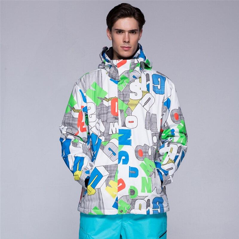 Nouvelle Hommes D'hiver Imperméable Randonnée Manteaux En Plein Air Costume Veste Hommes Snowboard Veste de Ski Costume Hommes Neige Vestes Livraison gratuite