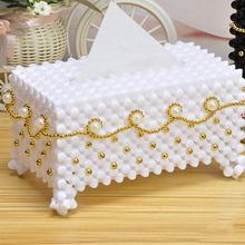 Acrylic Creative Tissue Box Gold European Handmade Napkin Holder Storage Cover Table Car Paper Home Hotel Decor