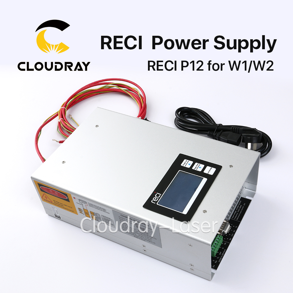 Original Intelligent RECI P12 CO2 Laser Power Supply 80W 90W 110V 220V  for RECI CO2 Laser Tube W1 S2 W2 Z2 80w co2 laser power dy10 for reci laser tube