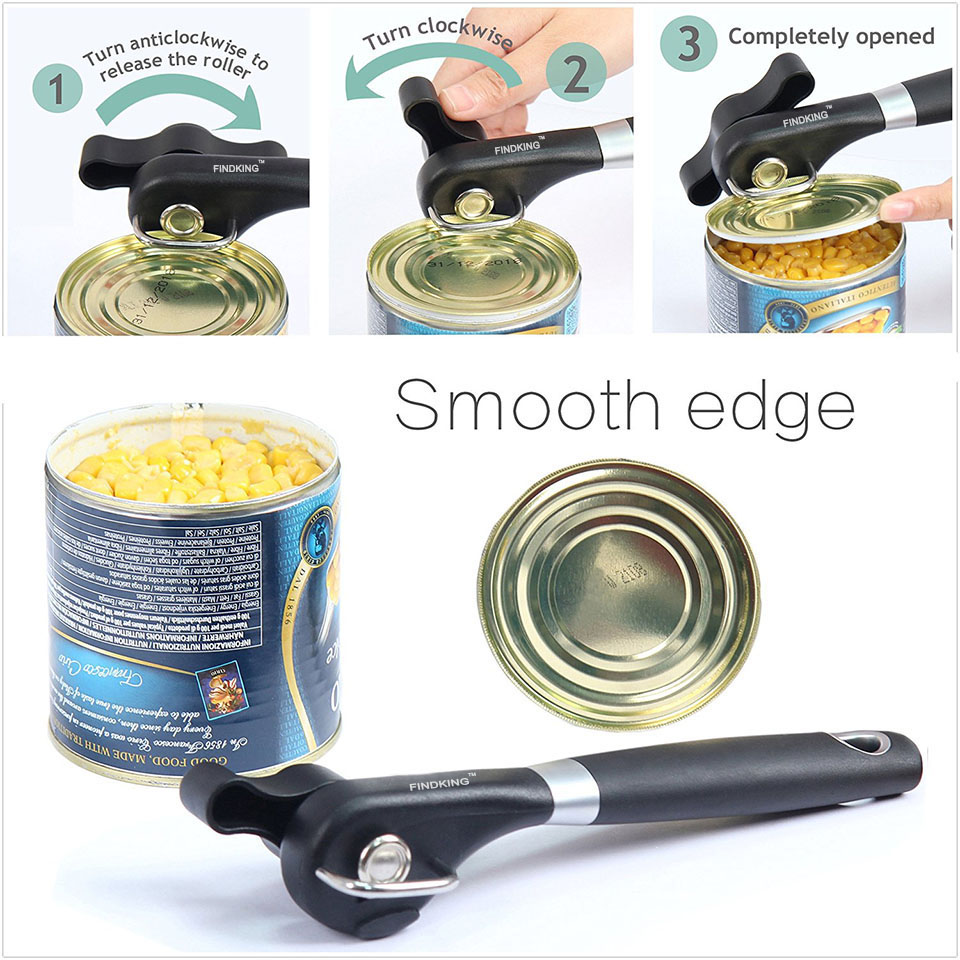 FINDKING brand Cans Opener Professional Ergonomic Manual Can Opener Side  Cut Manual Can Opener-in Openers from Home & Garden on Aliexpress.com |  Alibaba ...