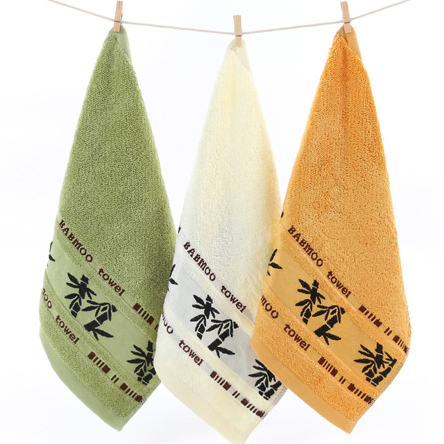Sale Bamboo Pattern Fiber Cotton Bibs Small Square Hair Drying No Lint Absorbent Drying Soft Washing Face Towel Household