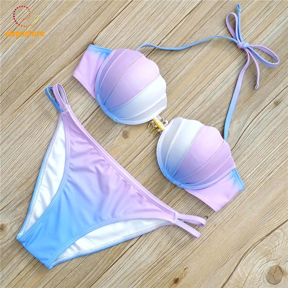 Brazilian Bikini Swimwear Women Push Up Bikini Set 2017 Bandage Swimsuit Biquini Beach Wear Bathing Suits Maillot De Bain Femme one piece swimsuit swimwear women cheap sexy bathing suits lady bikini 2017 may beach girls korea push up skirt maillot de bain
