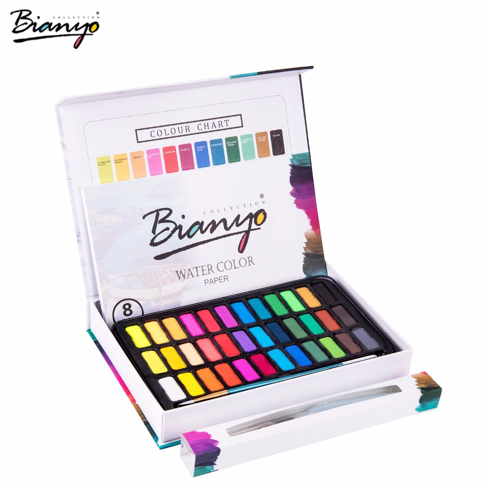 Bianyo 30/36 Colors acrylic paints set Portable Paints for painting Drawing markers Field Sketch Set With Brush Art Supplies touchnew 60 colors artist dual head sketch markers for manga marker school drawing marker pen design supplies 5type