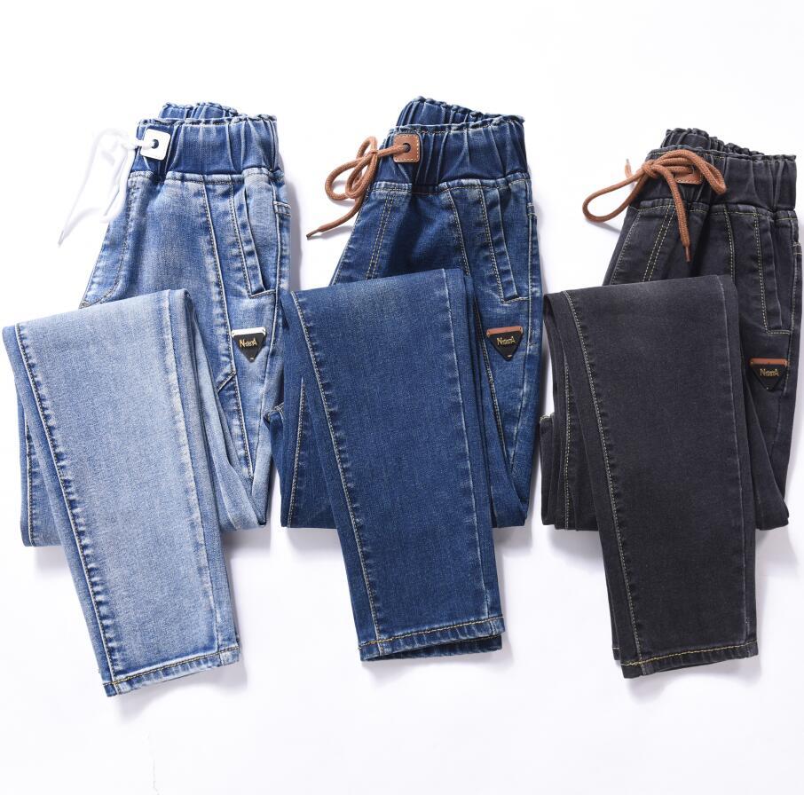 Эластичные женские джинсы-бойфренды, новинка 2018, модные джинсы размера плюс с высокой талией, эластичные джинсы befree wanita