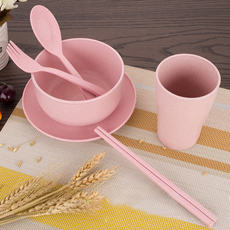 Portable Reusable Wheat Straw Tableware Environment
