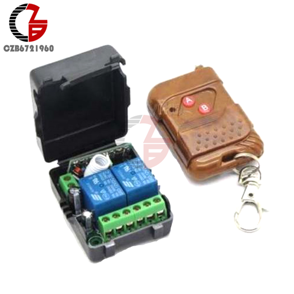 DC 12V 2CH 2 Channel Wireless RF Remote Control Switch Transmitter+ Receiver Relay Module