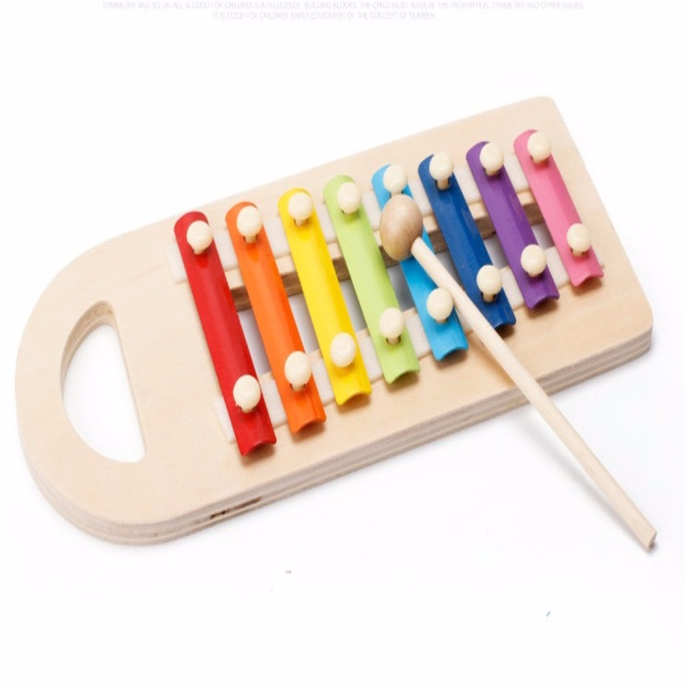 Children Colorful Knocking Music Instrument Toy Infant Musical Wooden Toys Music Knock the Ball Teaching Educational Kids Toys