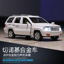 Die-cast Electric Metal Children Toys Sports Car Model Vehicle Gift 1:32 Sport SUV AMC Jeep Wagoneer Sound Light Cherokee(China)