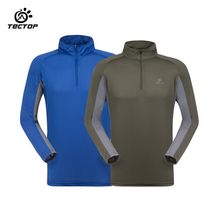 TECTOP Outdoor Running Basketball font b Cycling b font Sport Quick Dry Slim Fit Long Sleeve