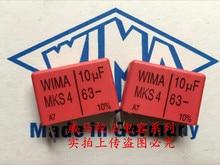 2019 hot sale 10pcs20pcs German capacitor WIMA MKS4 63V 10UF 63V 106 P 225mm spot Audio capacitor free shipping