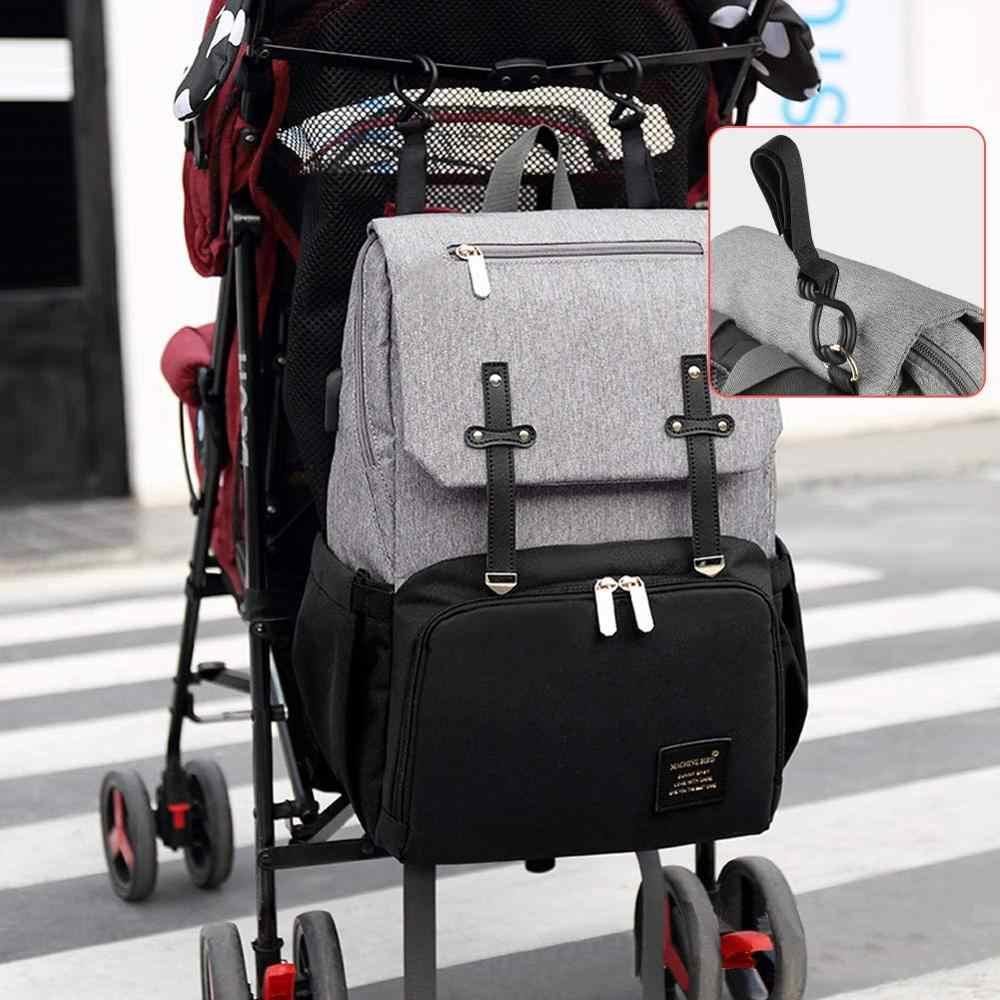 USB Saco de Fraldas Do Bebê Mochila Multi-Função À Prova D' Água Oxford Bolsa Kits de Enfermagem Fralda Múmia Sacos Maternidade Saco Para Carrinho De Bebê