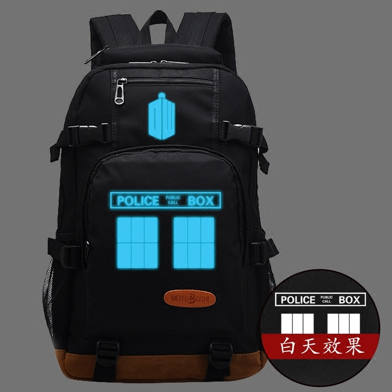 2017 New Doctor Who Shoulders Backpack School Bags Men And Women Travel Laptop Bags 2017 new masked rider laptop backpack bags cosplay animg kamen rider shoulders school student bag travel men and women backpacks