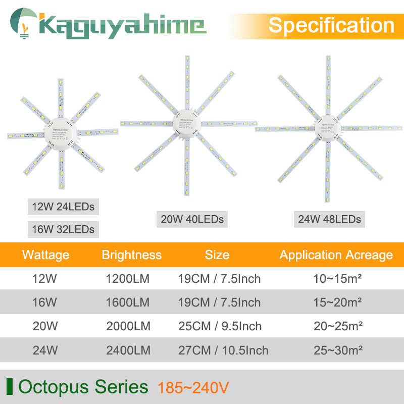 = (K) = Magnetik Dimodifikasi Sumber LED Ceiling Lamp 12W 16W 20W 24W 220V Hemat Energi Bohlam gurita Papan Lampu Tabung LED Module