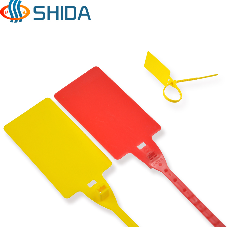 New arrival 25pcslot 410mm length Plastic tightening wire seals padlock tightener Ties seal cable lock for cargo
