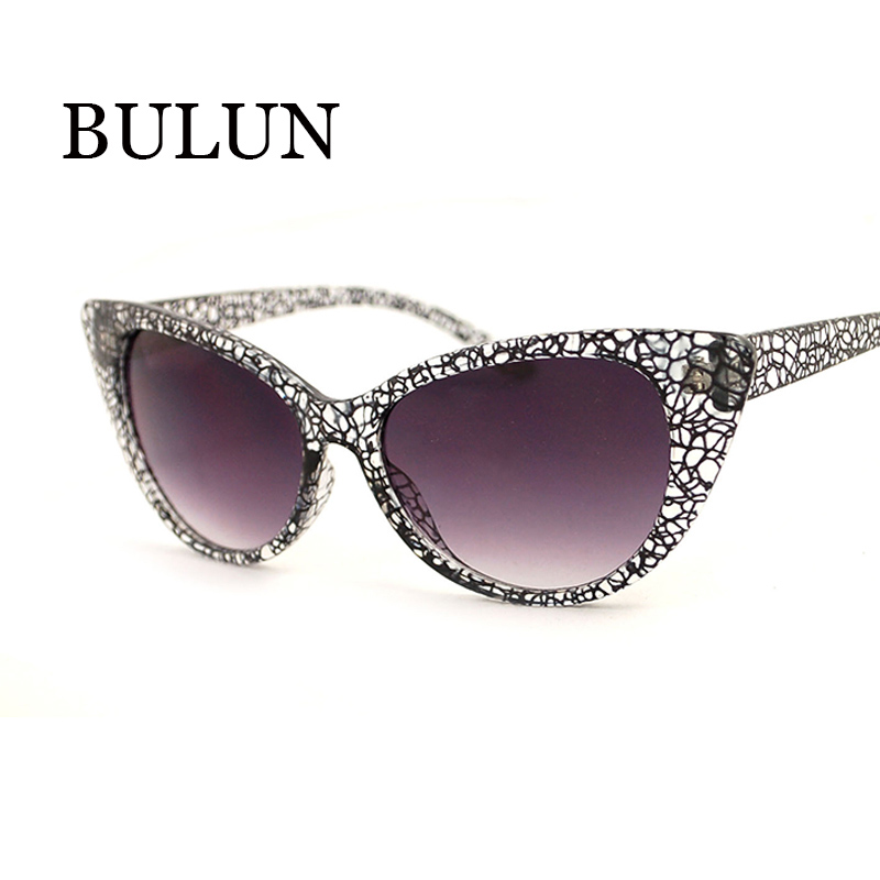 BULUN High Quality Cat Eye Sunglasses Women Brand Designer Fashion Vintage Eyewear Sun Glasses ...