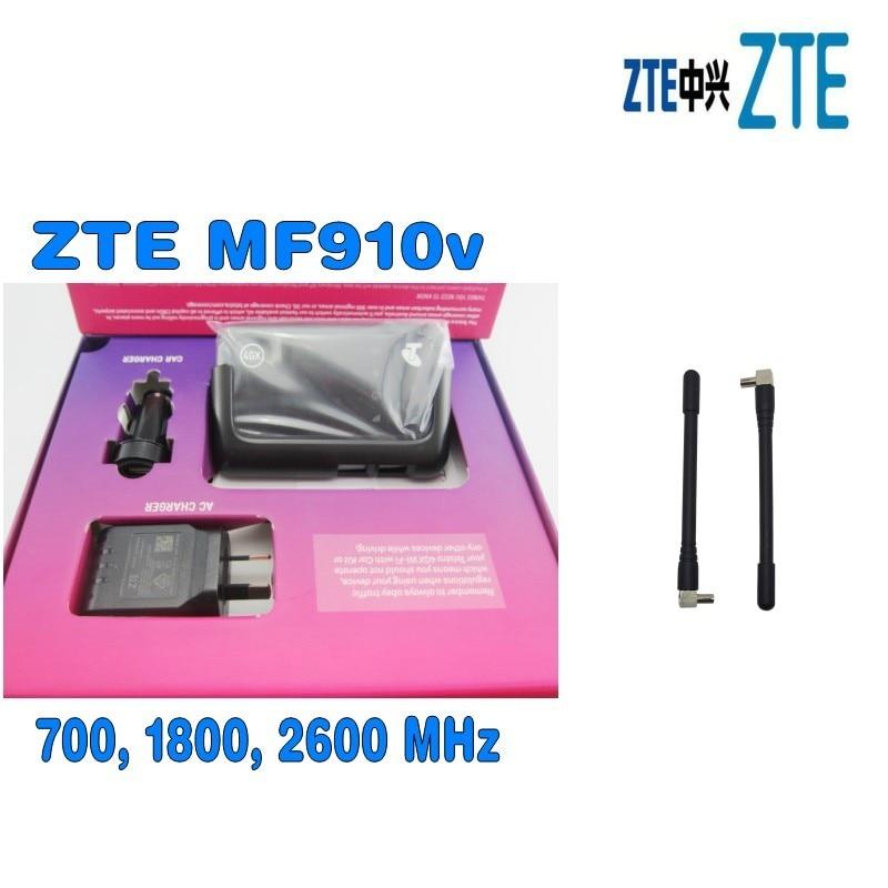 UNLOCKED Telstra ZTE MF910V Wifi 3G 4G 4GX mobile broadband pocket modem prepaid with Car kit plus 2pcs antenna цена