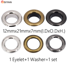 100set Metal Eyelets With Grommet Dia.12mm For DIY Fastener Scrapbooking Cap Leathercraft Shoes Belt Bag Tag Clothes Accessories