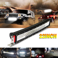 CO LIGHT Led Light Bar 22'' 384W Cree Chip Curved 8D Reflector 4-Rows Waterproof Car Driving for 4x4 Lada Uaz Gaz Opel Off Road